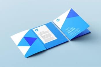 A Presentation Folder Mockup Free PSD