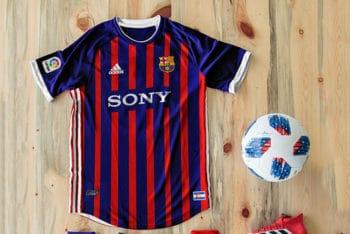 Free Football Kit Mockup