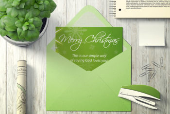 Free Greeting Card Mockup in PSD