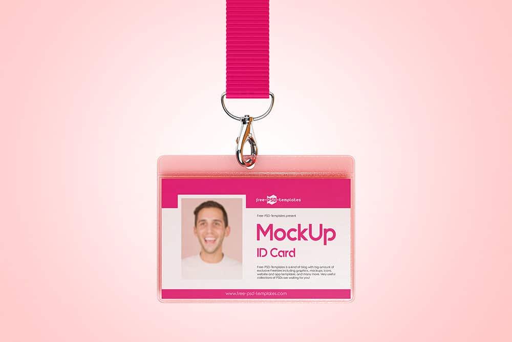 free id card psd mockup