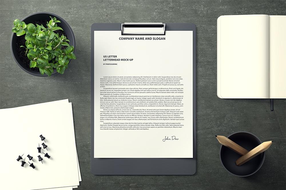download this free letterhead mockup in psd designhooks