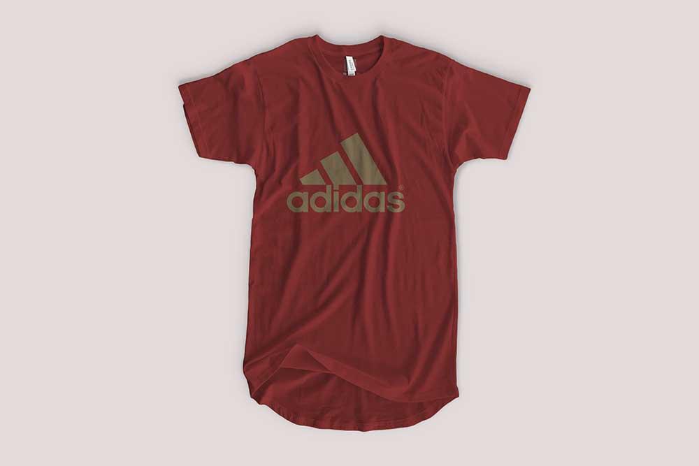 free longline shirt mockup