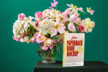 Free Paperback Book PSD Mockup