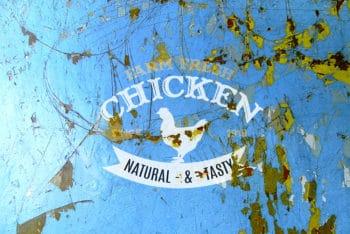 Free Damaged Painted Wall Logo Mockup