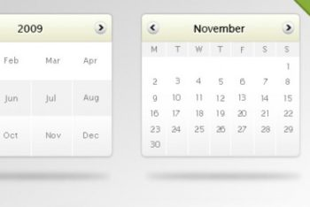 Free Customizable Digital Calendar Mockup in PSD