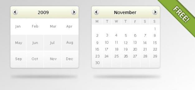 Digital Calendar Mockup
