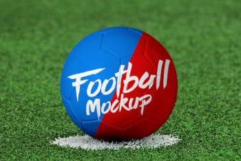 Free Soccer Ball Mockup in PSD