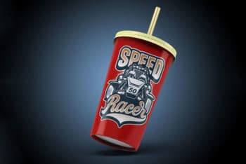 Free Takeaway Soda Cup Mockup in PSD
