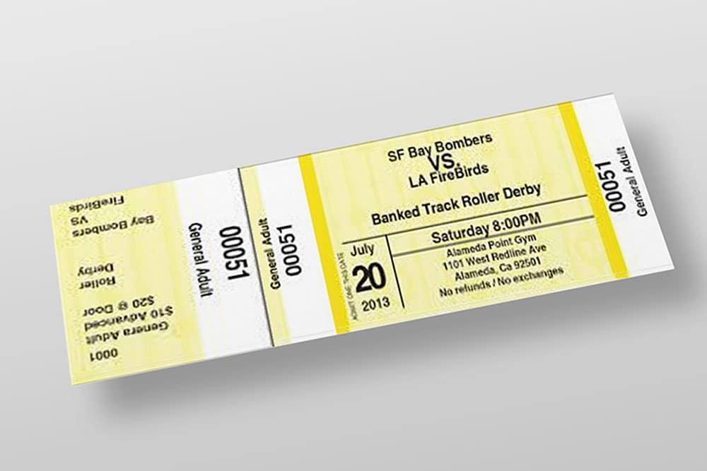 free entry ticket mockup