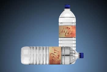 Free Water Bottle Mockup In PSD