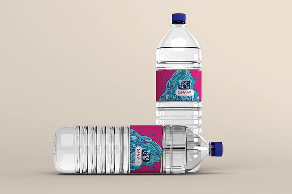 free water bottle mockup