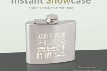 Awesome Classy Flask Mockup Freebie in PSD