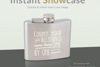 Awesome Classy Flask Mockup Freebie in PSD