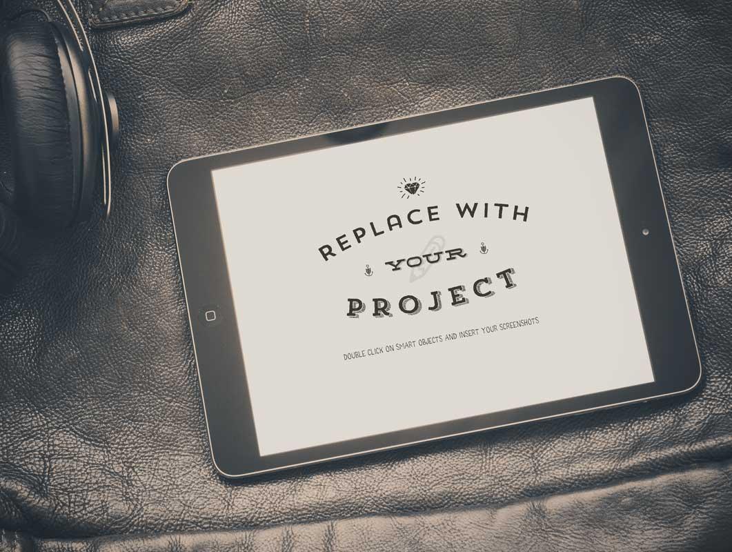 iPad Plus Leather Background