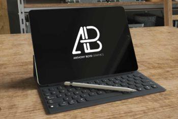 iPad Pro Plus Accessories Mockup Freebie