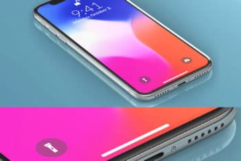 High Resolution iPhone X PSD Mockup