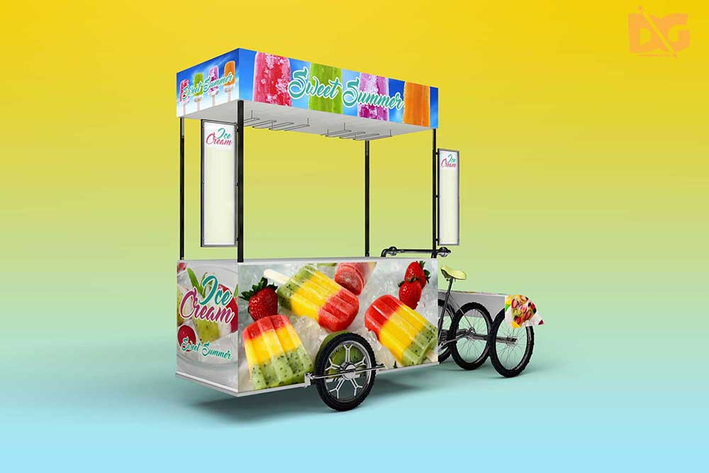 ice cream cart mockup
