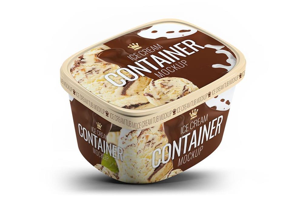 ice cream gallon mockup