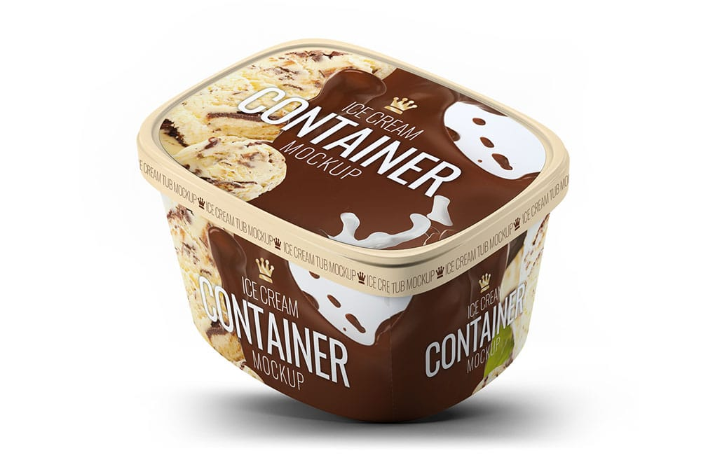 ice cream gallon mockup