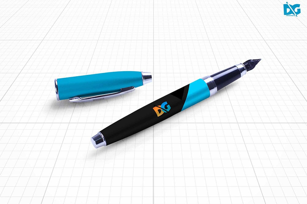ink pen branding mockup