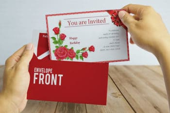 Free Download Invitation Card Mockup in PSD