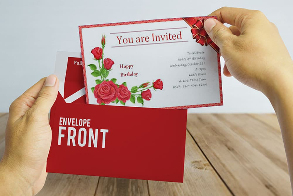 Free Download Invitation Card Mockup in PSD - Designhooks
