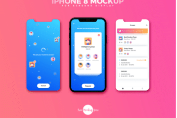 New iPhone 8 PSD Mockup for Designing Exclusive Screen Display