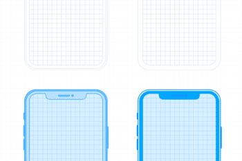 iPhone X Wireframe PSD Mockup – Awesome Design & User-friendly Features