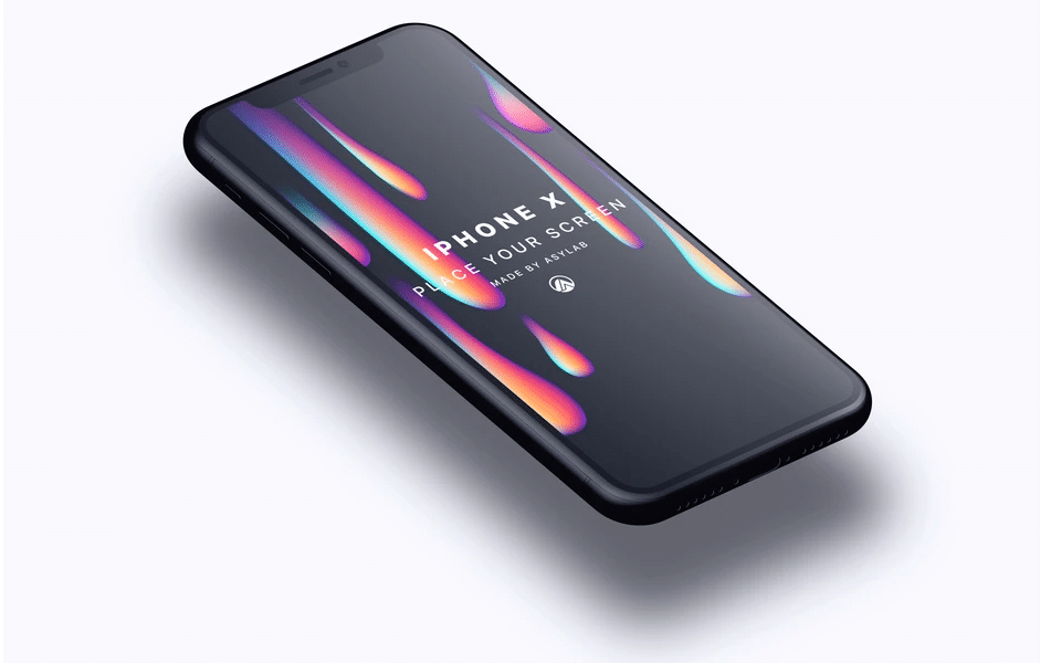 iPhone X Perspective Mockup Design
