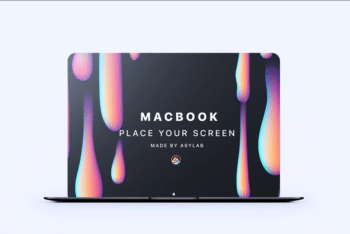 Macbook Perspective Mockup In Modern Design