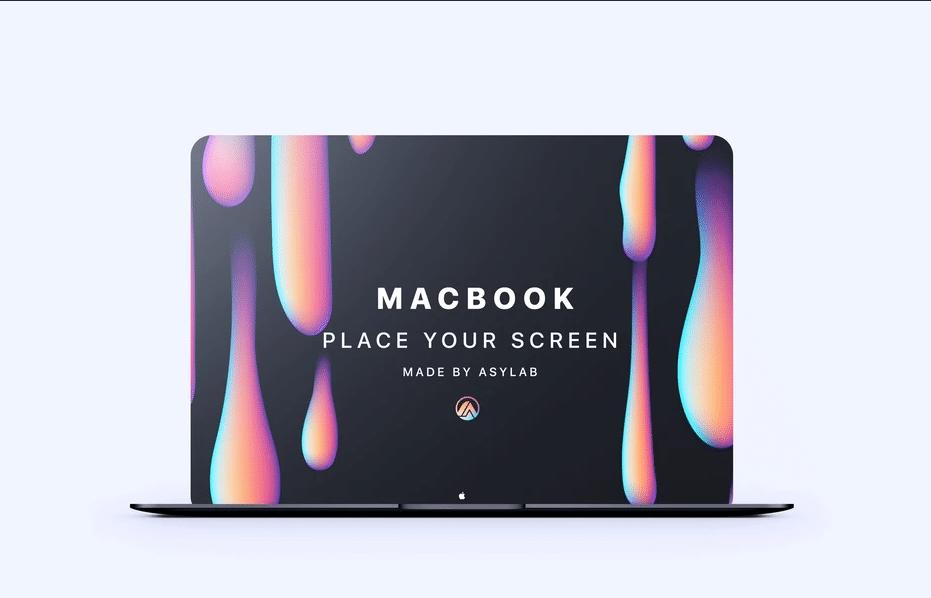 MacBook Perspective Mockup Design