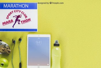 Free Marathon Concept Plus iPad Mockup