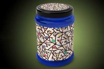 Free Mason Jar PSD Mockup