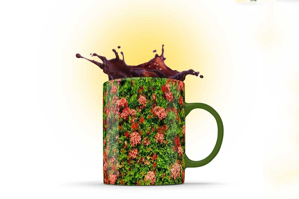 mug splash mockup