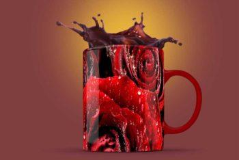 Free Download Mug Splash Mockup