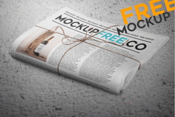 Newspaper PSD Mockup Available With User-friendly Features