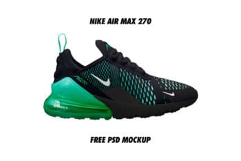 Nike Air Max 270 Mockup in PSD