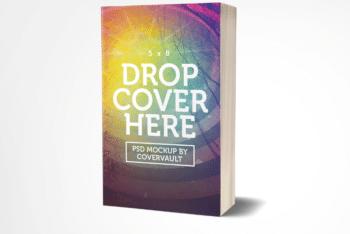 Paperback Novel PSD Mockup Template for Free