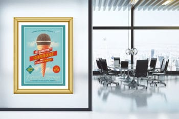 Poster Presentation Mockup for Office Interior