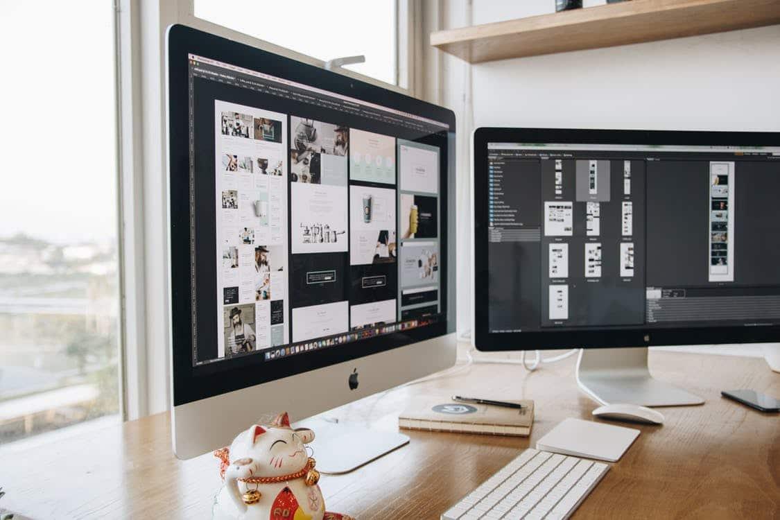 Dual Monitor iMac Setup