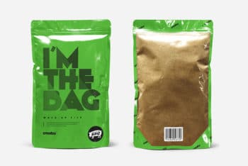 Free Standup Pouch Packaging Mockup In PSD
