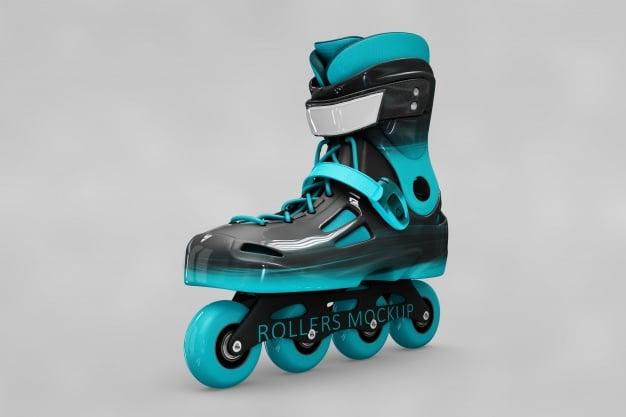 Cool Rollerblades Mockup