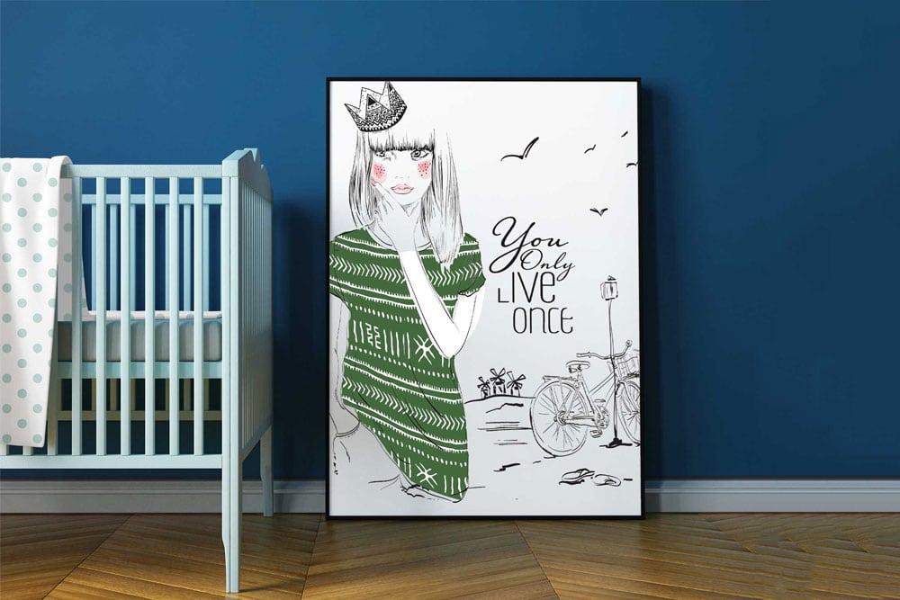 room poster mockup