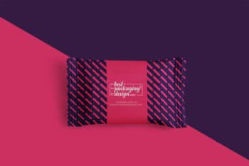 Sachet Packaging PSD Mockup