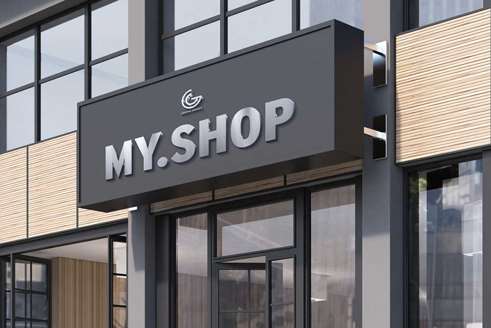 Download this gorgeous shop facade mockup designhooks for Design on line outlet