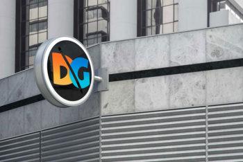 Free Download Shop Sign Logo Mockup