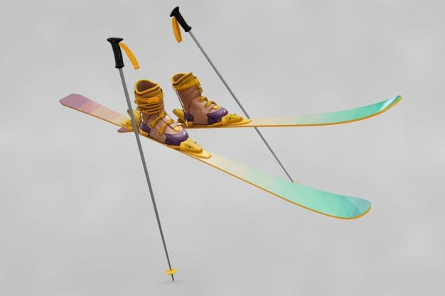 Colorful Ski Gear