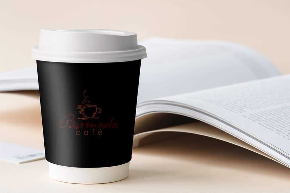 small paper cup mockup