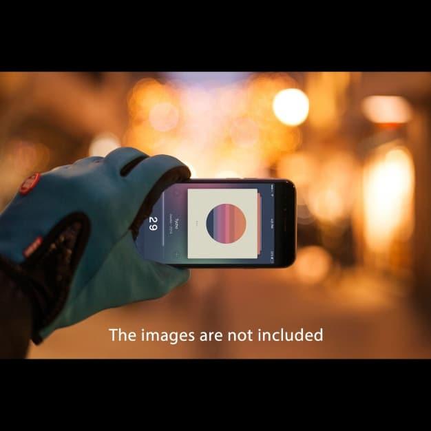 Smartphone Plus Blurred Background