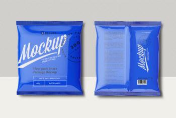 Snack Packaging Label Mockup In PSD